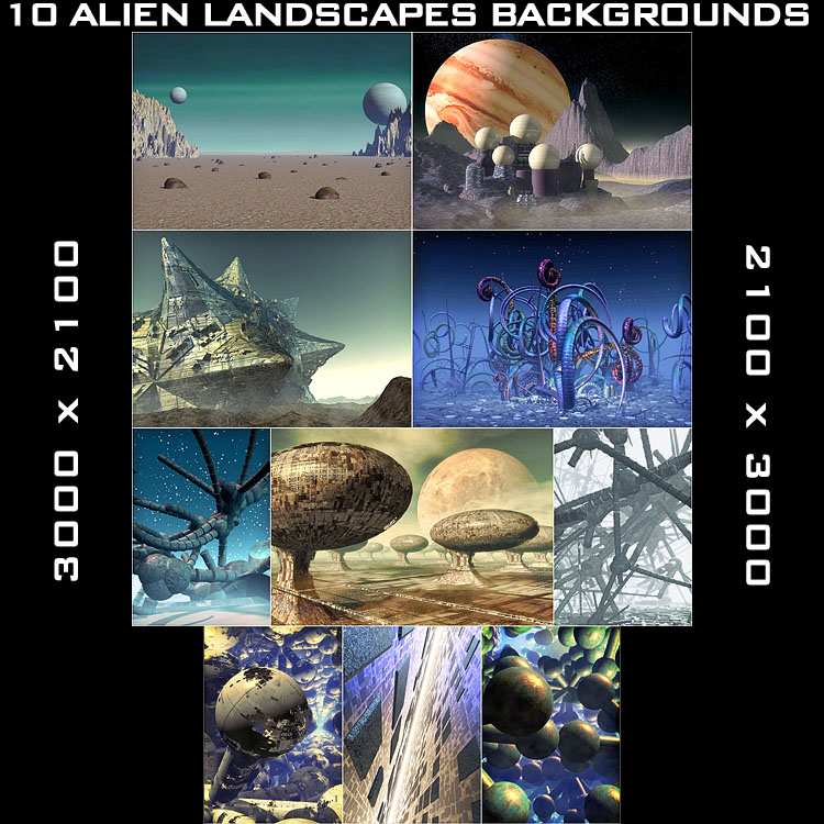 10 Alien Backgrounds