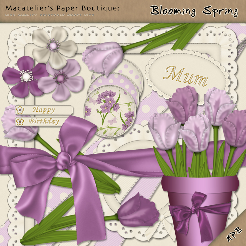 Macatelier's Paper Boutique: Blooming Spring