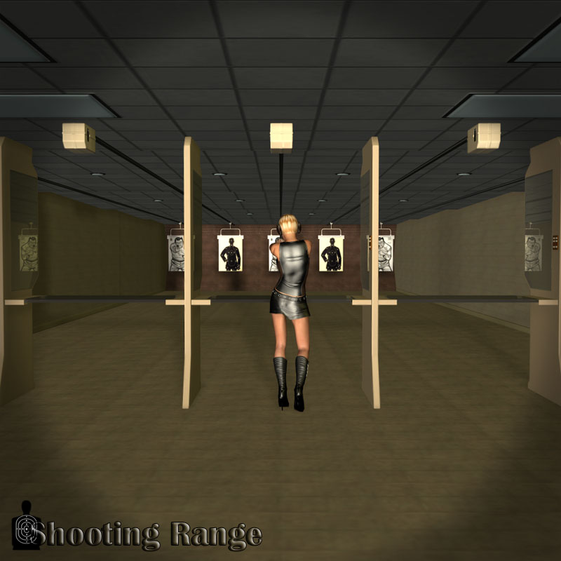The Latest Service Planned For School Shooti: Shooting Range For Poser 3D Models Richabri