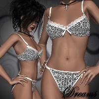 Dreams for Maiden Lingerie 3D Models 3D Figure Essentials Bow3D