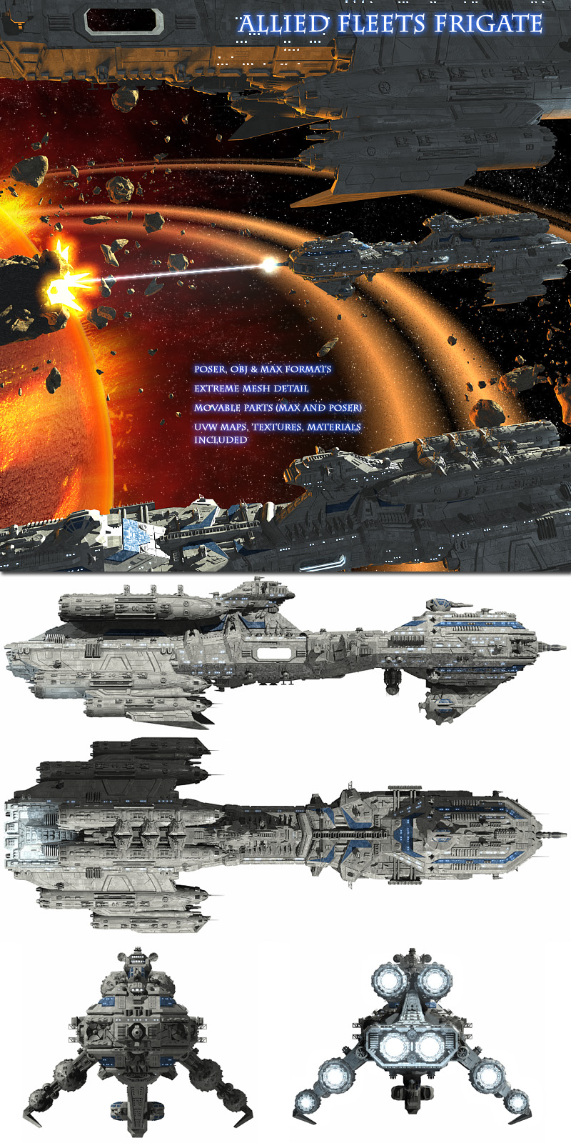 Allied Fleets Frigate - Multi Format