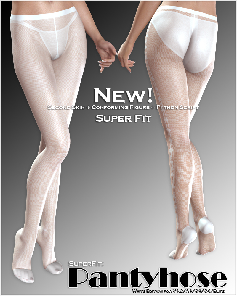 SuperFit: Pantyhose - White