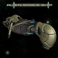 Alien Space Ship 3D Models Simon-3D