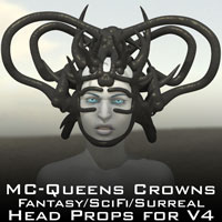 MC - Queens Crowns 3D Models MatCreator