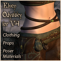 Pd-Elven Odyssey for V4 3D Models 3D Figure Essentials parrotdolphin