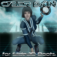 Slide3D Cyber Skin for S3D Boots 3D Figure Assets Slide3D