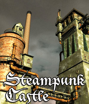Steampunk Castle Construction Kit 3D Figure Assets 3D Models Cybertenko