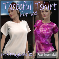 Tasteful Tshirt for V4 3D Figure Essentials WhimsySmiles