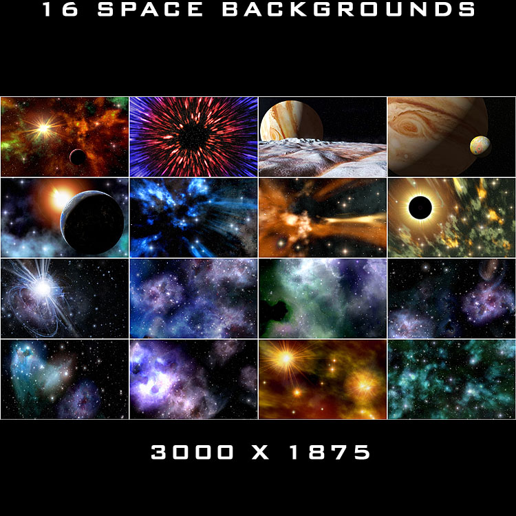 16 Space Backgrounds