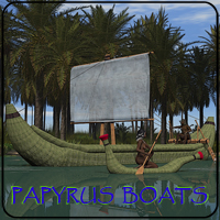 Papyrus Boats 3D Figure Essentials 3D Models skarland