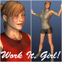 Work It, Girl! 3D Figure Assets Oskarsson