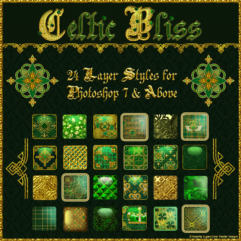 Celtic Bliss Layer Styles w/Free Gift