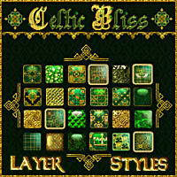 Celtic Bliss Layer Styles w/Free Gift 2D And/Or Merchant Resources Themed fractalartist01