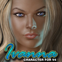 Exnem's Ivanna Character for V4 3D Figure Essentials exnem