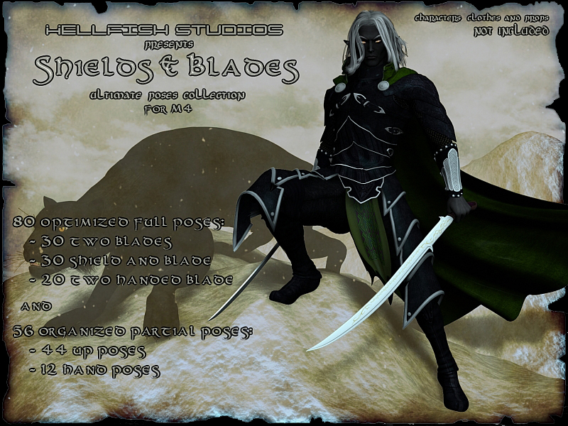 Shields and Blades Ultimate Pose Collection for M4