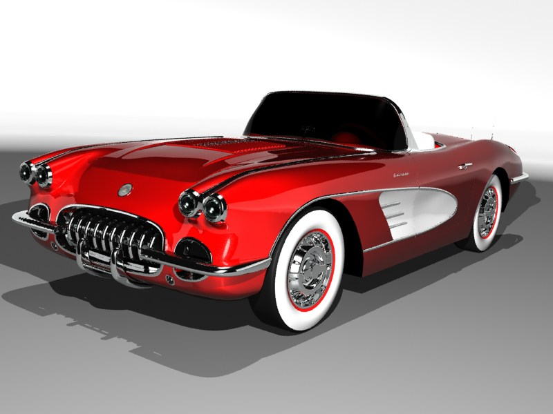 American classic car 3d studio max nodster for American classic automotive