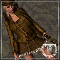 CORUSCATE for Steampunk Lady Blaze 3D Models 3D Figure Assets outoftouch