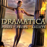 Dramatics: Poses, Props, Lights 3D Figure Assets 3D Models winnston1984