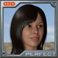 D3D Perfect Hair - Poser Python Script 3D Figure Essentials Software Dimension3D