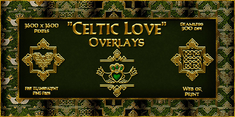 Celtic Love-Seamless Transparent Overlays
