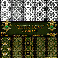 Celtic Love-Seamless Transparent Overlays Themed 2D And/Or Merchant Resources fractalartist01