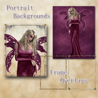 Portrait Backgrounds and Frame Overlays 2D And/Or Merchant Resources antje