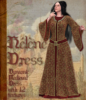 Helene Dress 3D Figure Essentials 3D Models Tipol