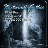 Nocturnal Gothic Backgrounds 3D Models 2D AdamantGrafix