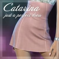 Catarina Dress 3D Figure Assets fabiana