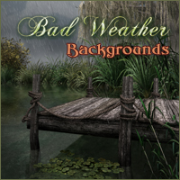Bad Weather Backgrounds 2D And/Or Merchant Resources Themed -Melkor-