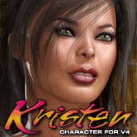 Exnem's Kristen Character for V4 3D Figure Essentials exnem