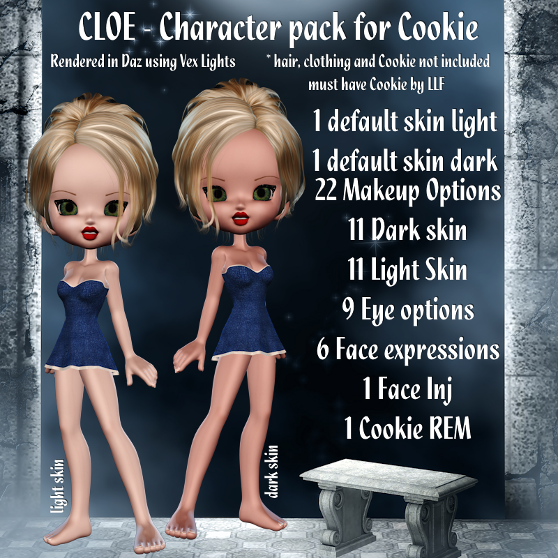 Cloe Character Pack for Cookie by scdesignz