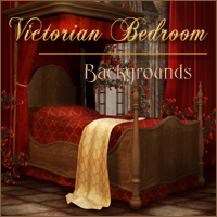 Victorian Bedroom Themed 2D And/Or Merchant Resources -Melkor-