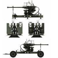 Bofors 40mm AA 3D Models Touchwood