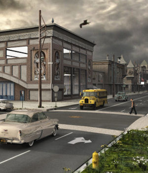 Movie Sets, City Block 07 3D Models DreamlandModels