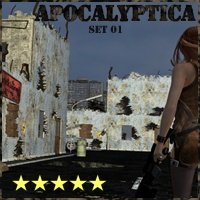 Apocalyptica Set 01 - Post War Building 01 3D Models 3-d-c