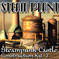 Steam Plant - SP Castle 2 Props/Scenes/Architecture Themed Cybertenko