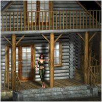 Rustic Cabin (Poser & OBJ) Themed Props/Scenes/Architecture RPublishing
