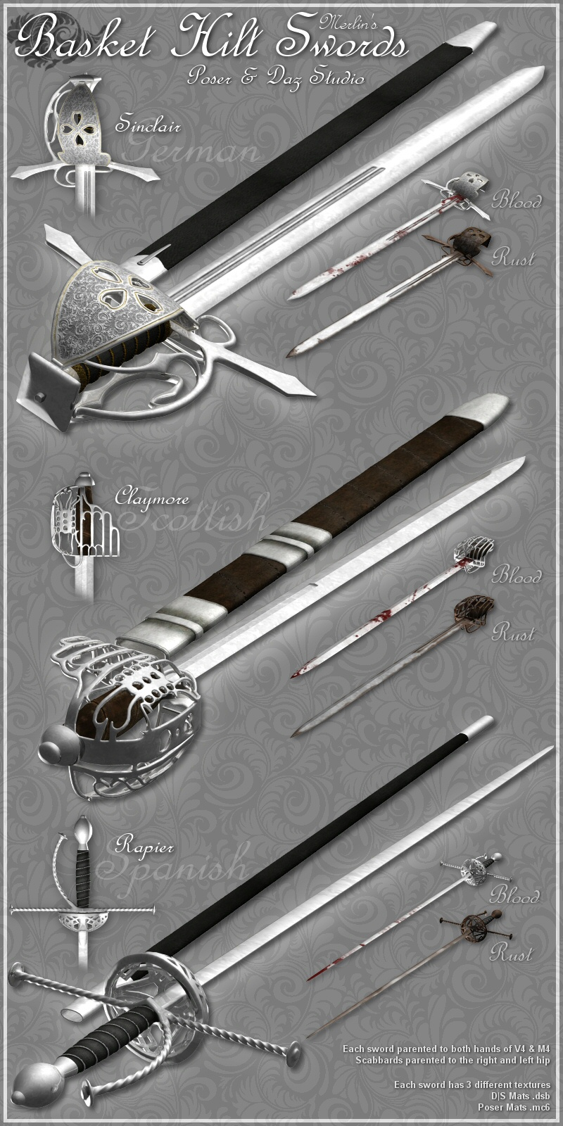 Merlins Basket-Hilt Swords
