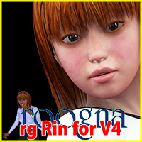 rg Rin Character for V4 3D Figure Essentials roogna