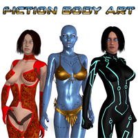 Fiction BodyArt 3D Models apcgraficos