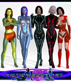 Fiction BodyArt 3D Figure Assets apcgraficos