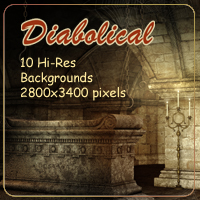 Diabolical Backgrounds 2D 3D Models AdamantGrafix