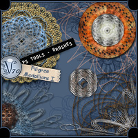 PS Tools - Filigree Medallion Brushes I  Valerian70