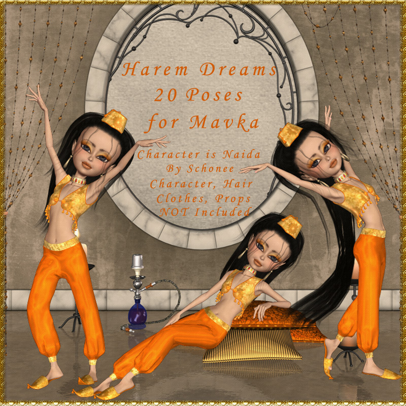 Mavka Harem Dreams Pose Pack
