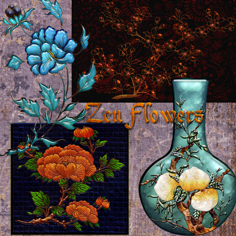 Harvest Moons Zen Flowers
