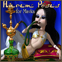 Mavka-Harem Poses and Accessories 3D Models 3D Figure Assets CJ-studio