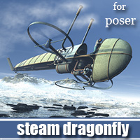 Steam Dragonfly 3D Models 1971s