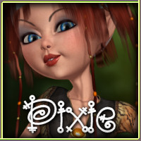 Pixie for Mavka Elf Girl Clothing Themed -Wolfie-