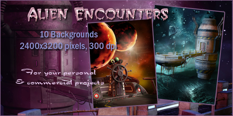 Alien Encounters Backgrounds
